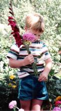 Stealing grandma's flowers