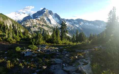 evergreen glacier hike hill
